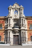 Voorgevel van Heilige Telmo Palace in Sevilla Stock Foto's
