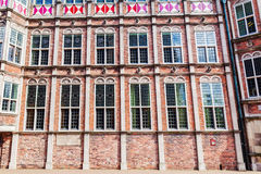 Voorgevel van het duivelshuis in Arnhem, Nederland Royalty-vrije Stock Foto's