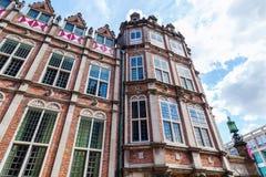 Voorgevel van het duivelshuis in Arnhem, Nederland Stock Fotografie