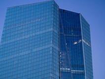 Voorgevel van het Europese Centrale Bankhoofdkwartier in Frankfurt Royalty-vrije Stock Afbeeldingen