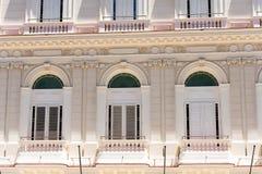 Voorgevel van het gebouw, Cuba, Havana Close-up Stock Foto's