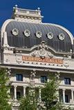 Voorgevel van het Hotel Gallia in Milaan, onlangs volledig renovat stock foto's