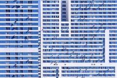 Voorgevel van high-rise flatgebouw Stock Fotografie