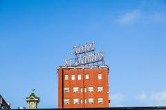 Voorgevel van historisch hotel St. James Stock Fotografie