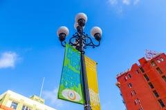 Voorgevel van historisch hotel St James in het district van de gaslamp in San D Stock Foto