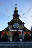 Voorgevel van Houten Kerk Royalty-vrije Stock Foto