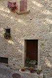 Voorgevel van Italiaans huis Stock Foto