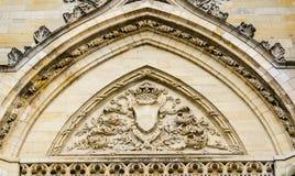 Voorgevel van Kathedraal van het Heilige Kruis van Orléans, de Loire-Vallei, Stock Afbeeldingen