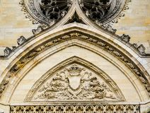 Voorgevel van Kathedraal van het Heilige Kruis van Orléans, de Loire-Vallei, Stock Foto's