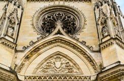 Voorgevel van Kathedraal van het Heilige Kruis van Orléans, de Loire-Vallei, Stock Foto
