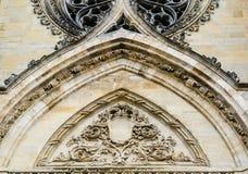 Voorgevel van Kathedraal van het Heilige Kruis van Orléans, de Loire-Vallei, Stock Fotografie