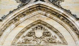Voorgevel van Kathedraal van het Heilige Kruis van Orléans, de Loire-Vallei, Royalty-vrije Stock Afbeelding
