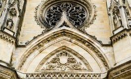 Voorgevel van Kathedraal van het Heilige Kruis van Orléans, de Loire-Vallei, Stock Afbeelding
