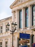 Voorgevel van palais DE justice in de stad van Nice stock afbeelding