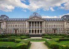 Voorgevel van Royal Palace in Brussel Stock Fotografie