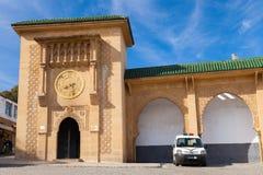 Voorgevel van Sidi Bou Abib Mosque in Tanger, Marokko Stock Afbeelding