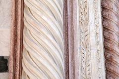Voorgevel van Sienna Cathedral Church, Toscanië stock foto