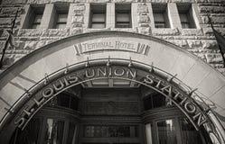 Voorgevel van St. Louis Union Station Stock Afbeeldingen