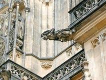 Voorgevel van St Vitus Cathedral, Praag Stock Fotografie