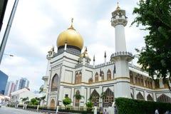 Voorgevel van Sultan Mosque, in Singapore royalty-vrije stock fotografie