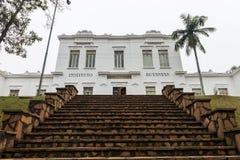Voorgevel van Vital Brazil Building in Butantan-Instituut royalty-vrije stock foto's