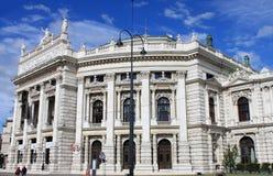 Voorgevel van Wenen Burgtheater in Wenen Stock Fotografie