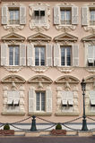 Voorgevelfragment van de bouw van Monte Carlo Royalty-vrije Stock Fotografie