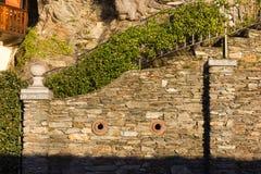 voorgevels en de bouwdetails van botanische tuin bij verbania ita royalty-vrije stock afbeeldingen