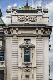 Voorgevels van Belgrado - het Nationale Theater Detail van het de Bouwfront Royalty-vrije Stock Afbeeldingen