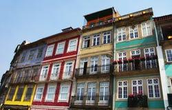 Voorgevels van de oude huizen in Porto Royalty-vrije Stock Foto's