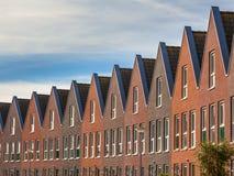 Voorgevels van Moderne familiehuizen Stock Afbeelding
