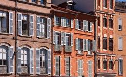 Voorgevels van Toulouse Stock Foto