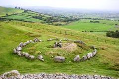Voorhistorisch Loughcrew-Graf complex van Provincie Meath, Ierland stock afbeelding
