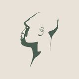 Voorhistorisch mensen vectorportret Royalty-vrije Stock Foto's