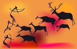 Voorhistorische jager Royalty-vrije Stock Foto's