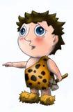 Voorhistorische jongen 2 vector illustratie
