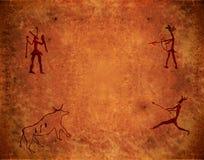 Voorhistorische verf Stock Foto