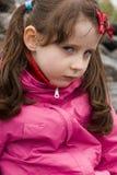 Voorhoofd gefronst meisje Royalty-vrije Stock Foto