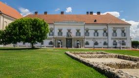 Vooringang van Hongaars Presidentieel Bureau - Sandor Palace Budapest stock fotografie
