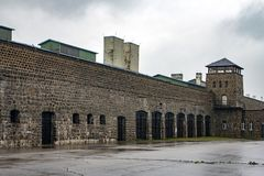 Mauthausen Concentration Camp, Austria. The former Mauthausen Concentration Camp. Now it is a monument for the victims of the Nazi persecution during the Second royalty free stock photography