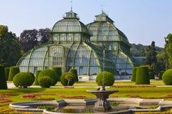 Voorkant van palmhuis in Wenen Royalty-vrije Stock Afbeeldingen