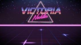 voornaam Victoria in synthwavestijl stock illustratie