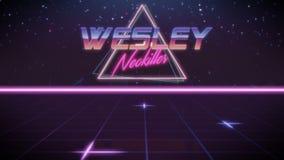 voornaam Wesley in synthwavestijl stock illustratie