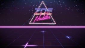 voornaam Zoe in synthwavestijl stock illustratie
