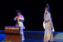"""Voorouderlijk de doos-Purpere Haarspeld--jiangxi opera""""four dromen van linchuan† Stock Fotografie"""