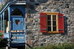 Voorouderlijk landelijk steenhuis in Quebec Canada Royalty-vrije Stock Afbeelding
