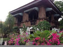 Voorouderlijke huizen met verhalen Stock Foto
