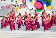Voorproef van de Nationale de Dagparade van Singapore Royalty-vrije Stock Foto's