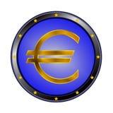 Voorproef van het euro teken Royalty-vrije Stock Foto's