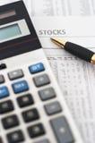 Voorraad, de lijstanalyse van de aandeelmarkt stock foto's